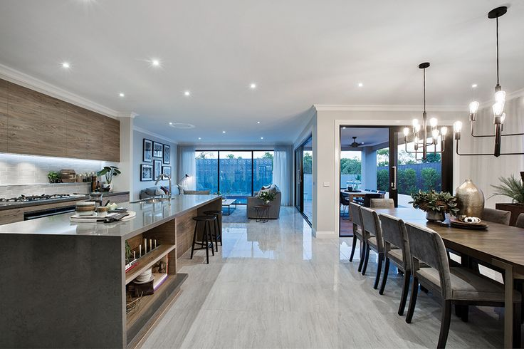 Open plan kitchen and dining on display in the Waldorf with a San Francisco World of Style