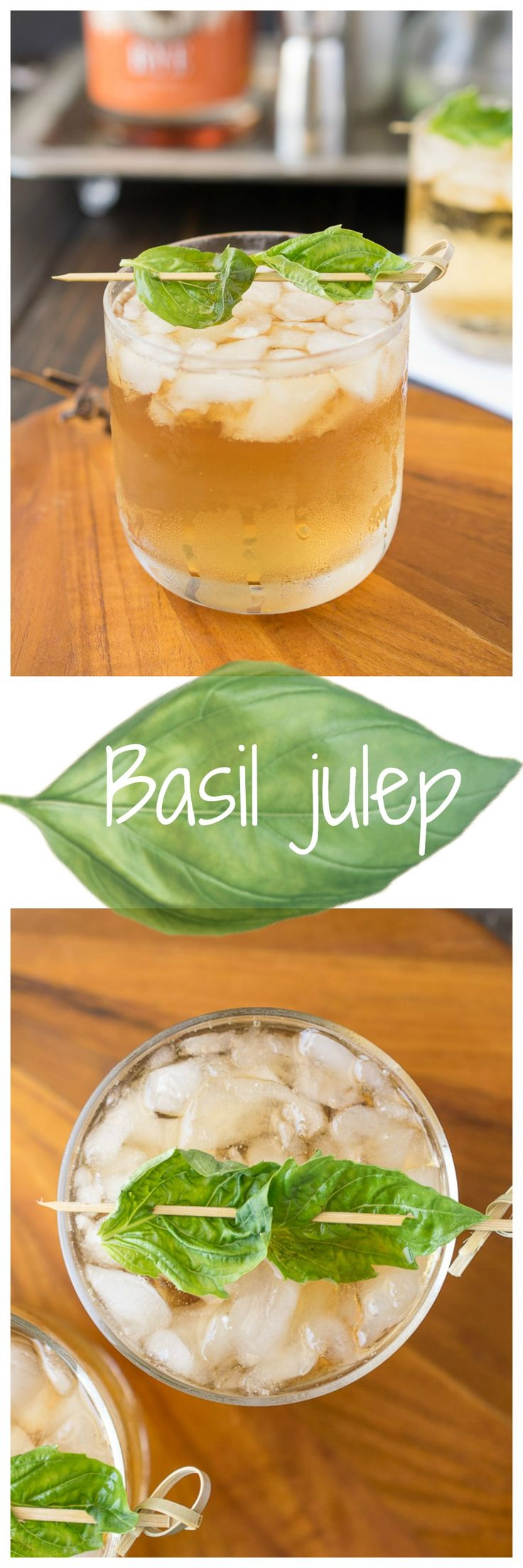 Basil julep - Based on a classic mint julep, I bring you a basil julep made with rye whiskey and basil. A very refreshing and perfect for sipping as the sun goes down as the Spring weather warms up.