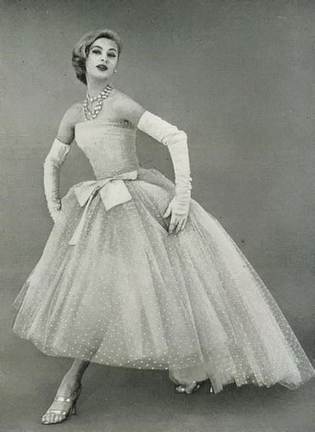 Christian Dior Evening April 1956