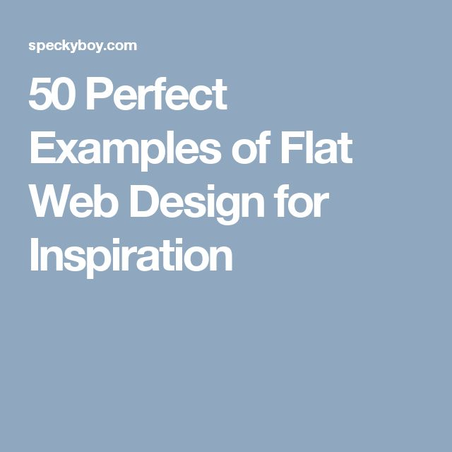 50 Perfect Examples of Flat Web Design for Inspiration