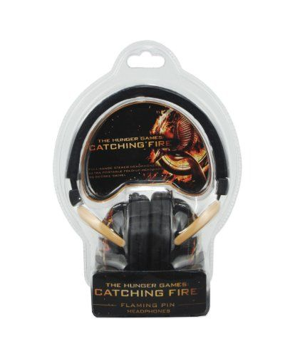 NECA The Hunger Games: Catching Fire Over The Ear Flaming Pin Headphones @ niftywarehouse.com #NiftyWarehouse #HungerGames #TheHungerGames #Movie