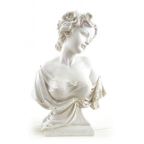 Byst  En Ljuvlig figurin i polystone. Mycket dekorativ och med vackra detaljer.
