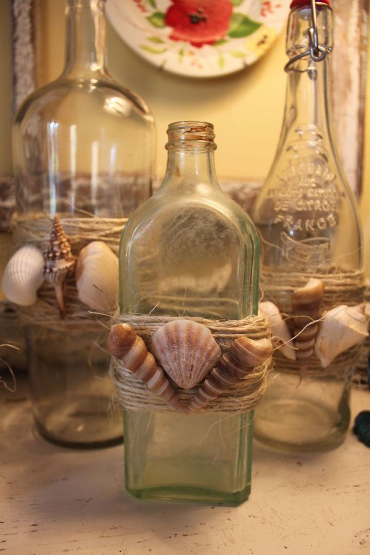 1000 images about beach glass shell crafts on pinterest for What can i do with glass bottles