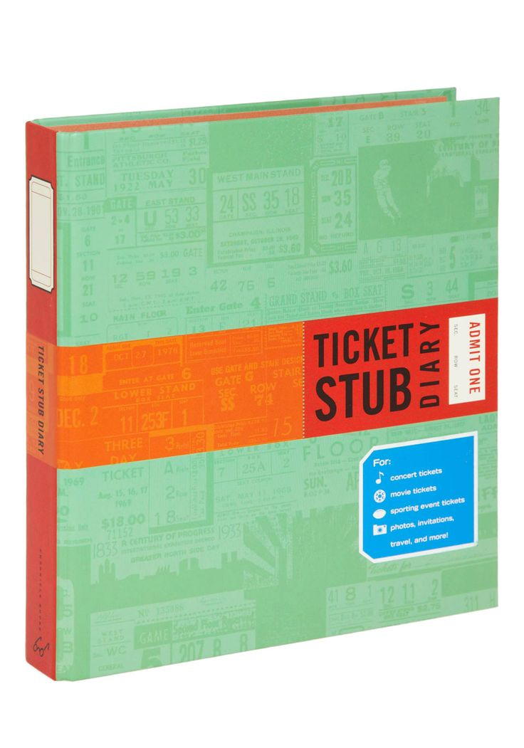 Got one! This is so well thought out... There's several different sized pockets from the std ticketmaster sized to airplane boarding passes.... and the stub just slips right in.   Ticket Stub Diary,  #ModCloth