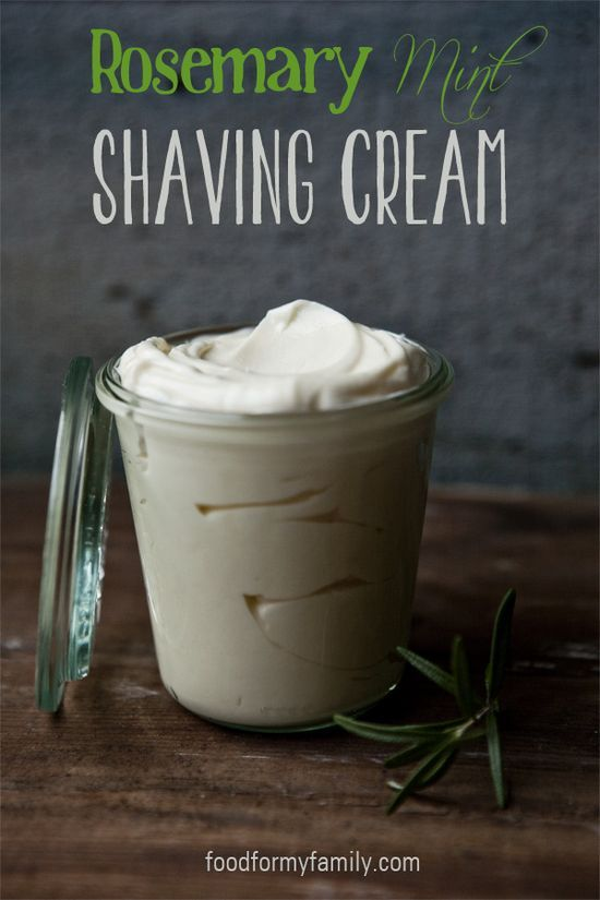 diy rosemary mint shaving cream for silky soft legs - 1/3 cup shea butter, 1/3 cup virgin coconut oil, 1/4 cup jojoba or sweet almond oil, 10 drops rosemary essential oil, 3-5 drops peppermint essential oil