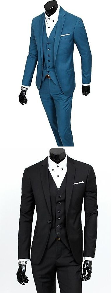 Chic three piece men suit for real professionals. Find it in black, deep blue, grey colors at just  $48.99. Enjoy up to 85% OFF till December 1st.
