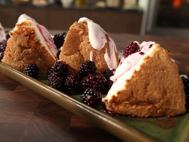Angel Food Cake with Macerated Berries and Mascarpone | Recipe