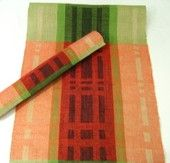Hand woven Christmas- table runner, linen.