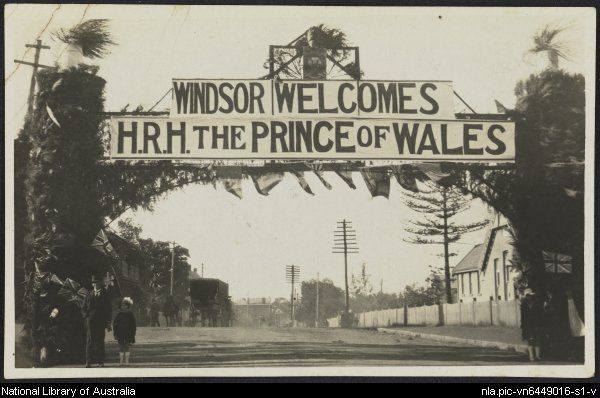 Recto of Windsor welcomes H.R.H. the Prince of Wales, Australia, 1920.