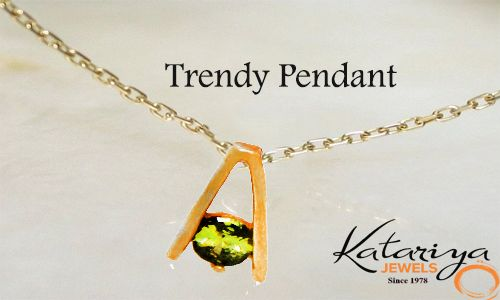 Trendy Gold Pendant in 22K  Buy Now :http://buff.ly/1JfbE3N COD Option Available With Free Shipping In India