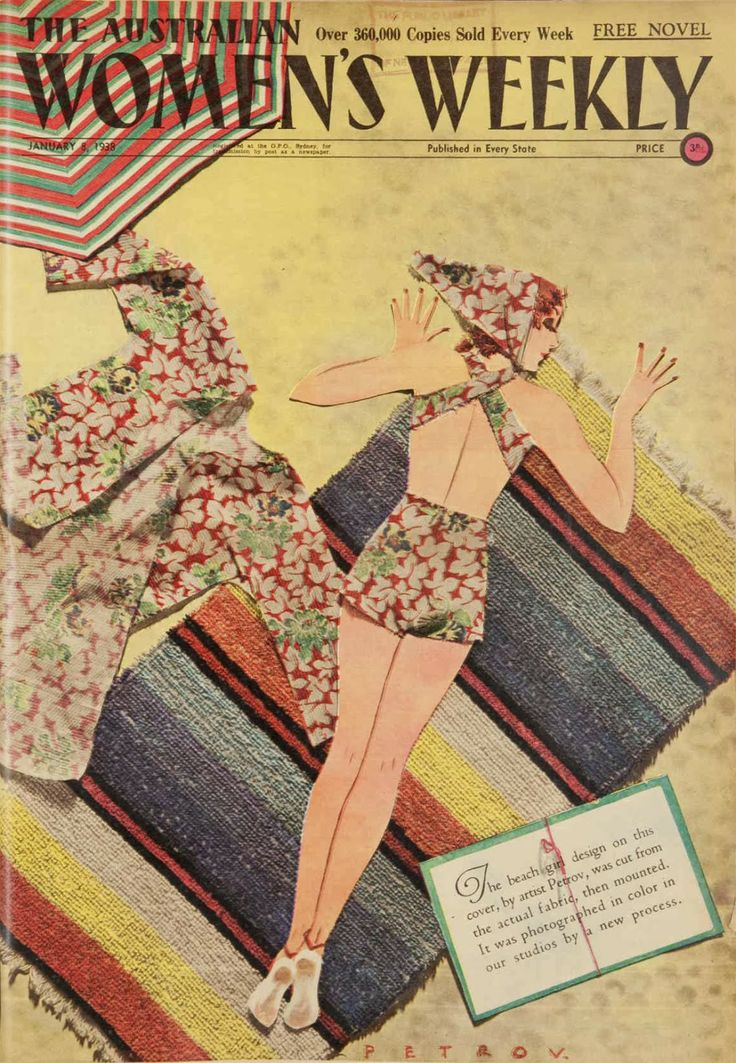 Australian Women's Weekly: Fabric cover by Petrov January 8, 1938
