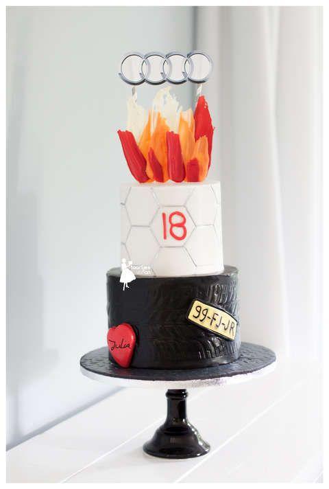 taartjes-van-an-taart-nunspeet-sweet-18-boy-cake-taart-sweet-18-jongen-sweet-18-cake-boy-car-cake cake sweet 18 boy mens cake cars cake groomscake audi cake