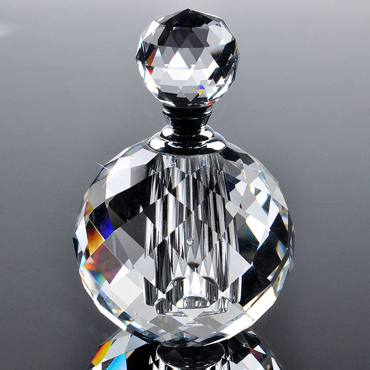 2016 10 ml Clear Ronde Luxe Hervulbare Parfum Vrouwen Parfumflesjes Lege Container Vintage K9 Crystal Cut Glas Groothandel