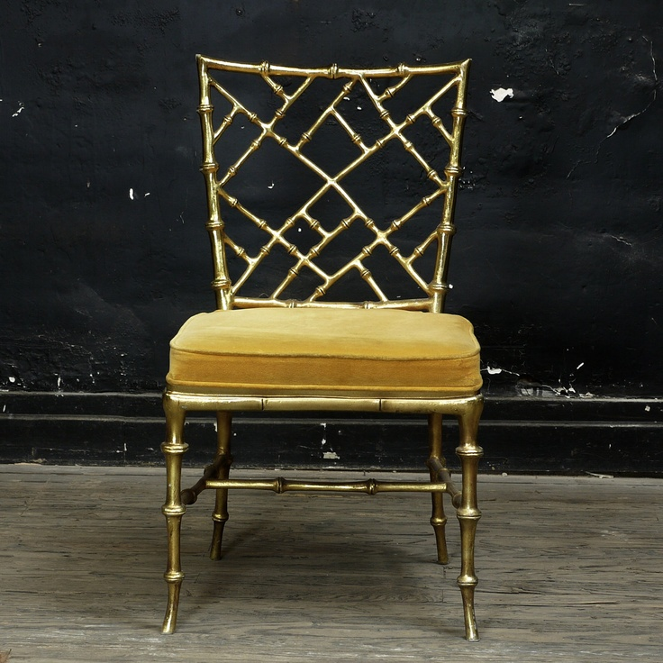 Somehow this lovely chair holds up to it's obvious glamour roots, but still maintains a nice casual chic appeal. I would worship a set of these for around my dining room table, then scatter them around my living room when we have guests.
