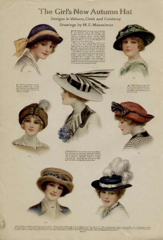 1913 ladies' hat fashions