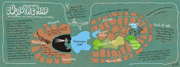 Boulders Map of Hyderabad, India