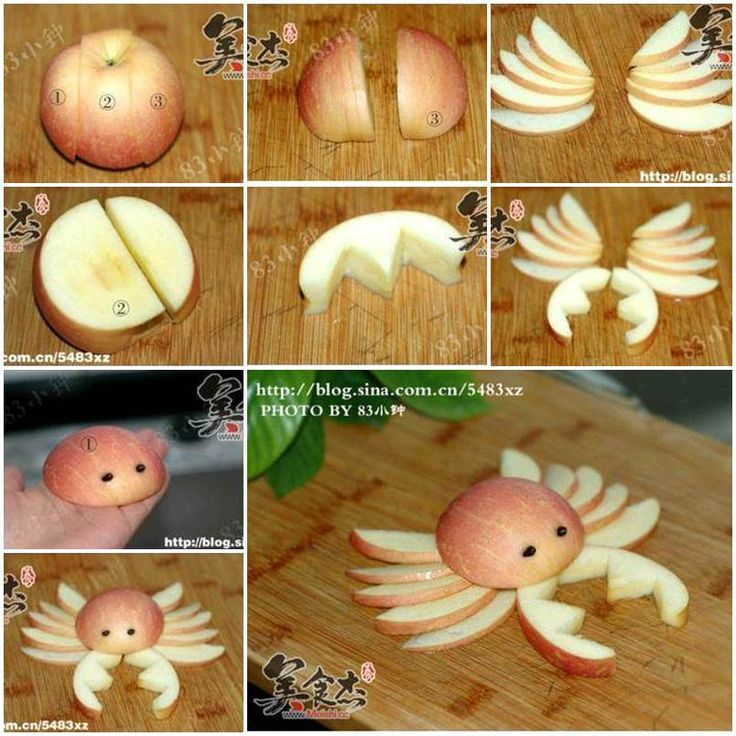 When I host a party at home, I like to decorate my food dishes so that it is not only delicious but also attractive. I found this creative way to cut an apple and make it look like a crab. You should try it next time when you make your …
