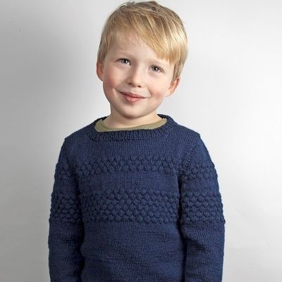Sweater Med Sømandsbobler Str.4-9 År