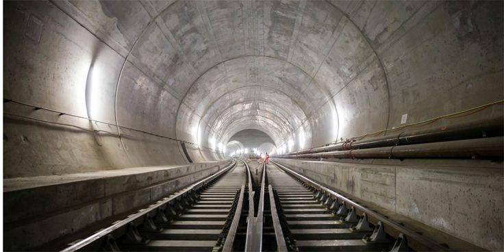 Suiza se prepara para inaugurar el túnel ferroviario más largo del mundo