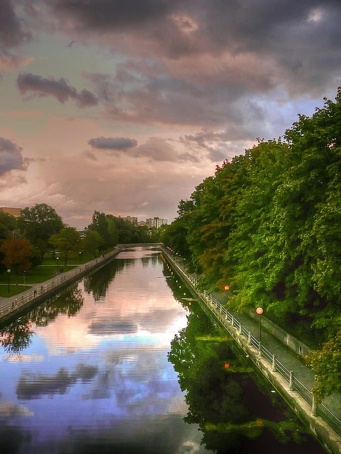 Rideau Canal at Twilight, Ottawa, Ontario