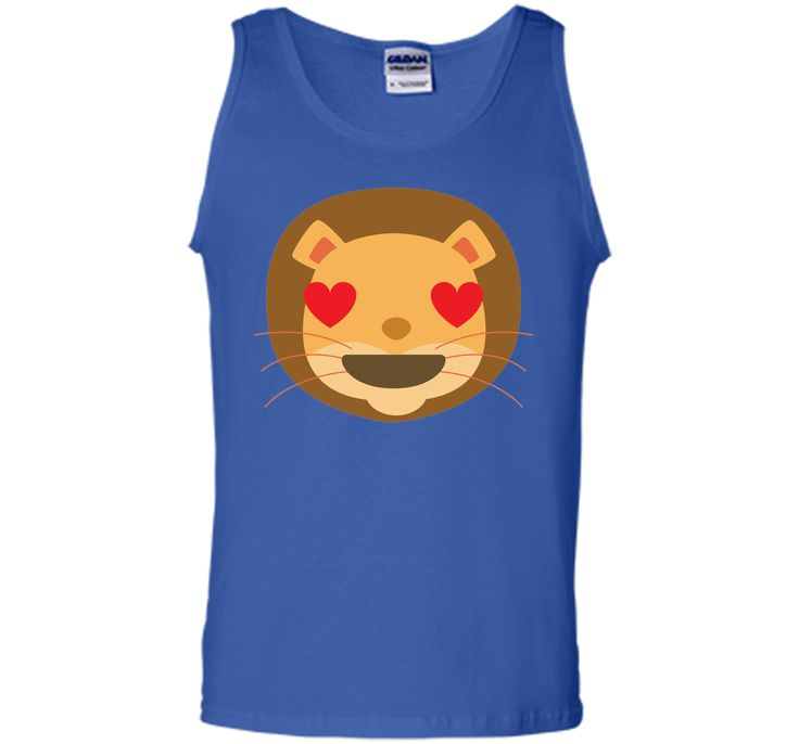 Funny Lion Emoji Heart and Love Eyes T-Shirt
