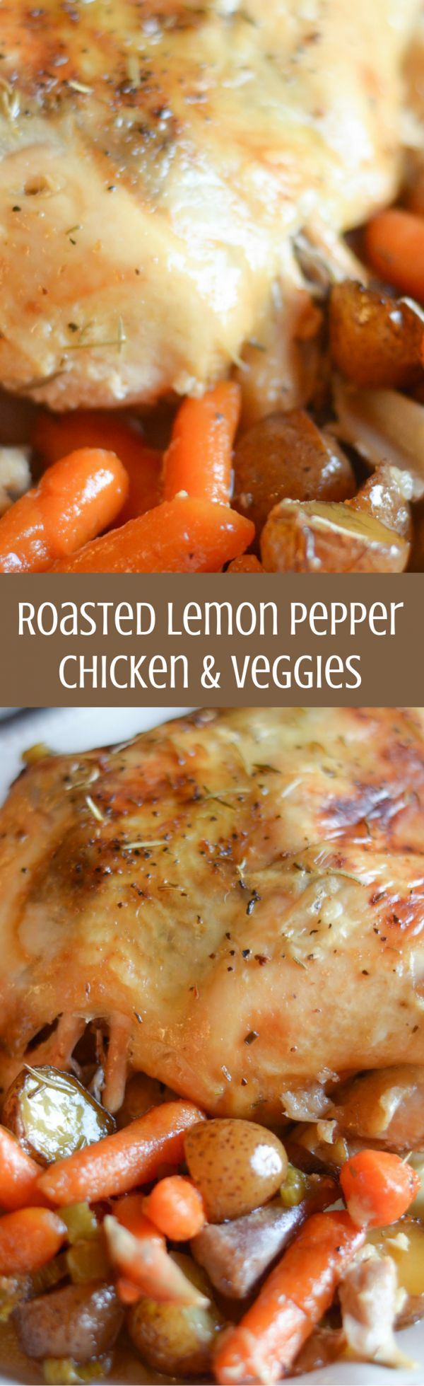 Roasted Lemon Pepper Chicken & Veggies