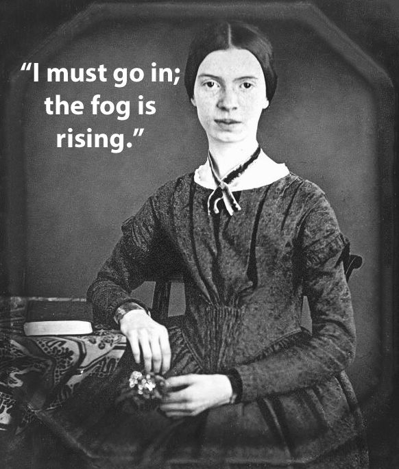 Famous Authors' Last Words: Emily Dickinson experienced blackouts and was confined to bed for seven months before her death.