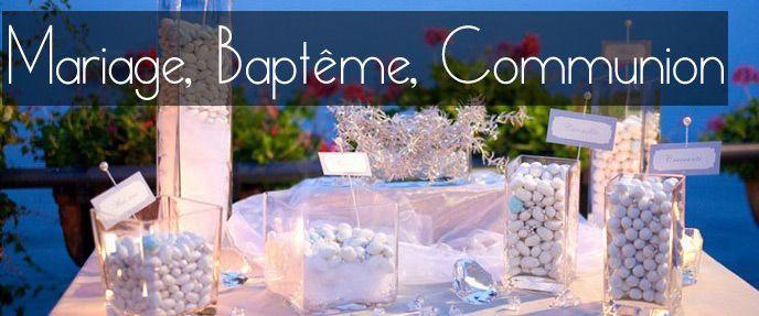 Dragées mariage, baptême et contenants à petits prix - http://www.abcdragees.com