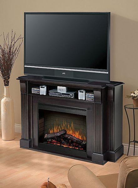 Dimplex Langley Media Console Electric Fireplace SMP-160-E-ST Fireplace media center | seattleluxe.com
