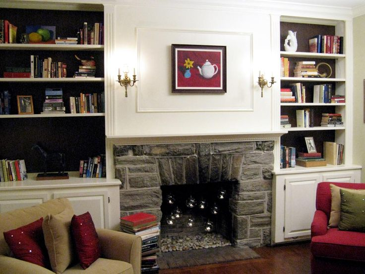 Built In Bookshelves Decorating Ideas 25 Best Fireplaces Images On Pinterest  Fireplace Ideas