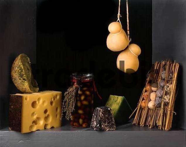 Sánchez Cotán, Juan. Bodegón con aceitunas y queso