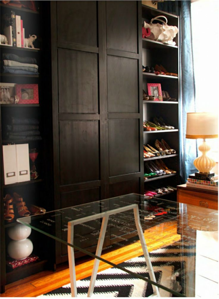 Diy ikea bookshelves turned walk in closet decorating walk in closets how to get started - Walk in wardrobes diy ...