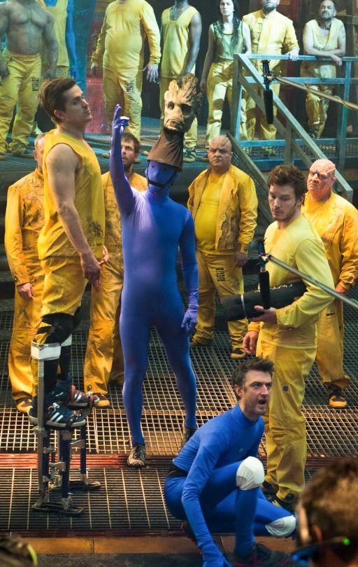 Chris Pratt On the set of Guardians of the Galaxy
