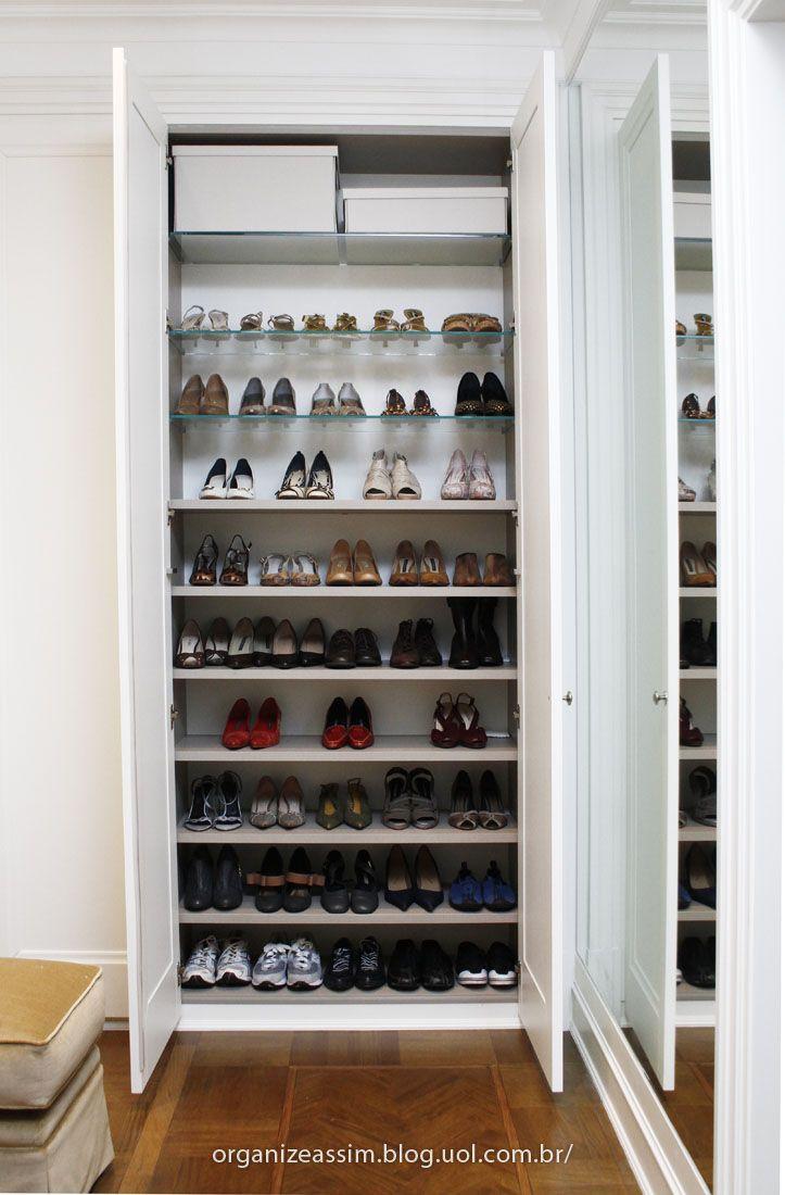 15 melhores imagens sobre como fazer uma sapateira com - Para guardar zapatos dentro armario ...
