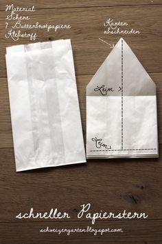 DIY - schneller Papierstern - Ein Schweizer Garten