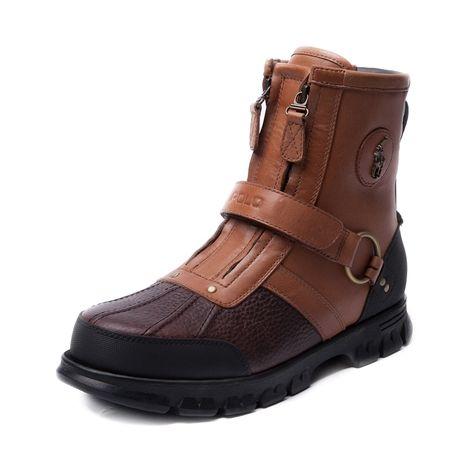Shop for Mens Conquest 3 Boot by Polo Ralph Lauren  in Tan at Journeys Shoes. Shop today for the hottest brands in mens shoes and womens shoes at Journeys.com.Perfect for the trails or the streets! The Conquest 3 from Polo features a leather upper with a pebble patterned toe contrast, dual zip closure with overlapping hook and loop strap, reinforced heel and toe, and lug outsole for prime grip and traction.