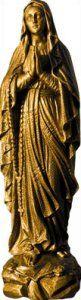 Bronze Colour Composite Marble Statue of Our Lady of Lourdes