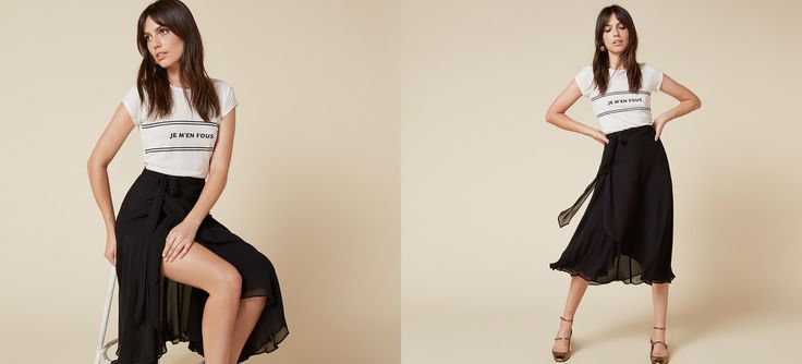 Pass the wind machine. This is a calf length, wrap skirt with an attached belt and side slit.