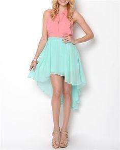 light blue Hi-Low Skirt  sc 1 st  Pinterest & 44 best High Low outfits images on Pinterest | High low outfits ... azcodes.com