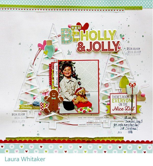 Be Holly and Jolly - Simple Stories - Mistletoe Kisses Collection - Christmas