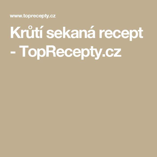 Krůtí sekaná recept - TopRecepty.cz