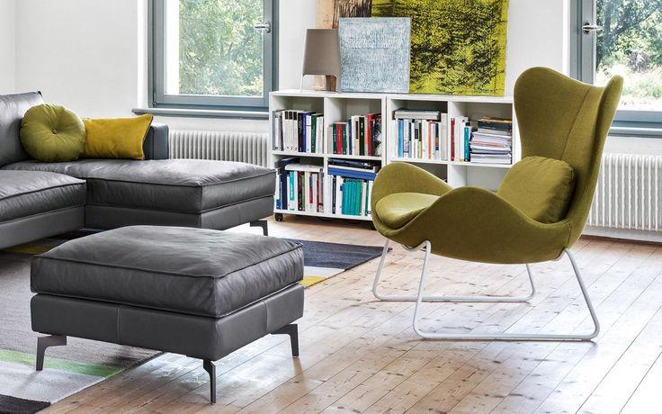 Square Sofa/Ottoman Lazy Metal base chair