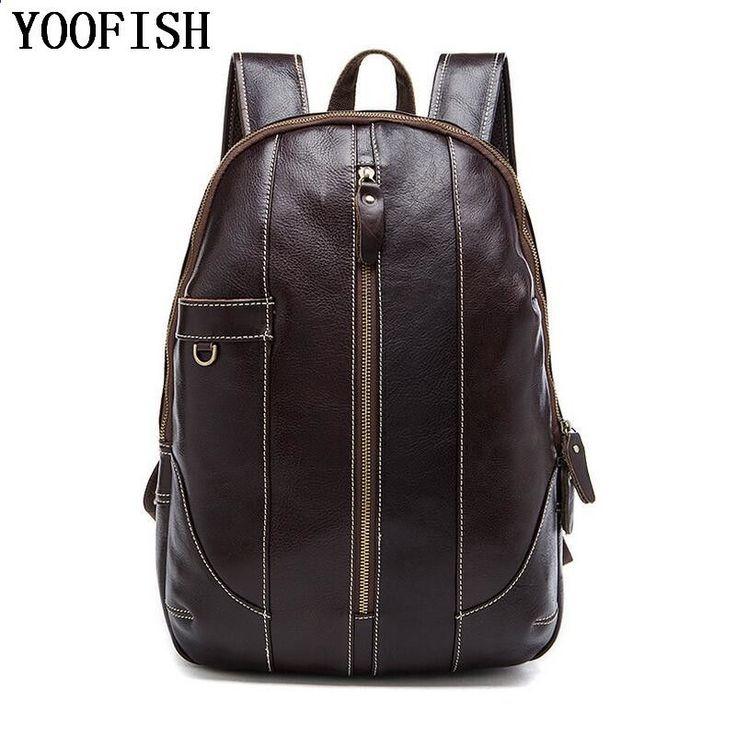 Photo of Genuine Leather Backpack Men Comfort