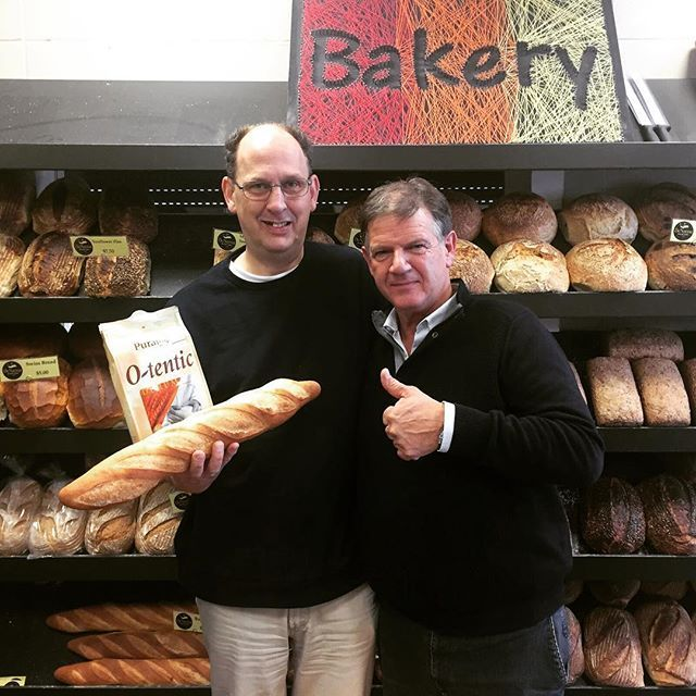 International visit today. My good friends from Puratos in Belgium. Very impressed with the bread!! Thanks 😍 #puratos #otentic #sourdough #bc411 #yvr #canada