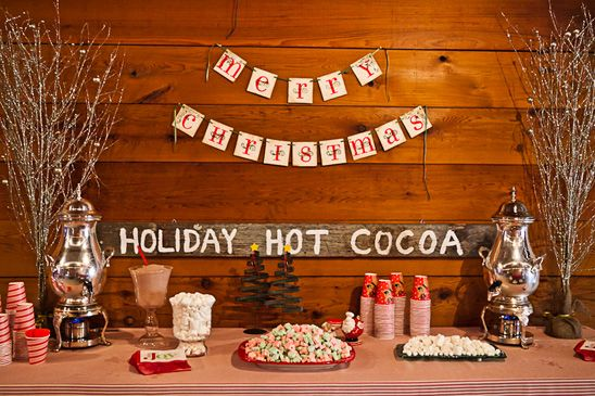 Santa's Workshop holiday party. @Kendra Wold Parish more of a fun rustic take