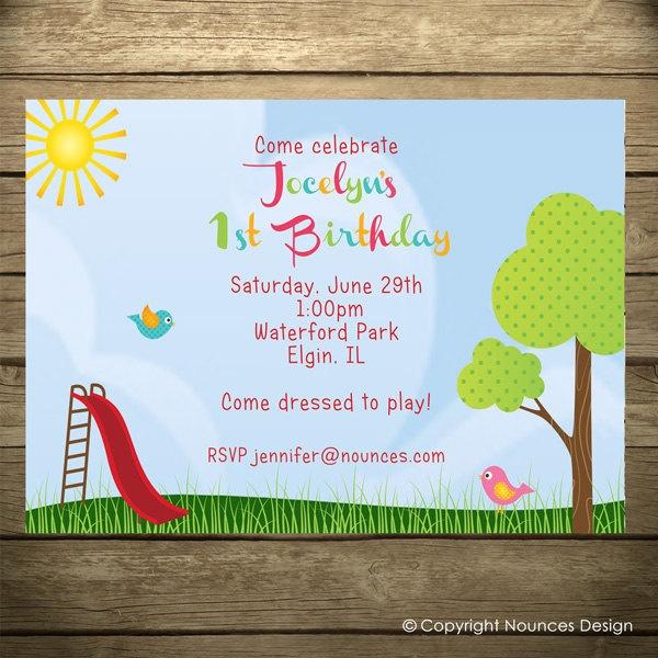 13 best party ideas images on pinterest birthday party ideas playground park birthday invitation filmwisefo
