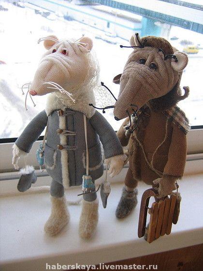 Игрушки животные, ручной работы. Ярмарка Мастеров - ручная работа Крыски разные. Handmade.