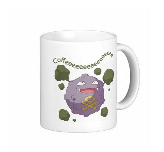 Koffing Ceramic Coffee Mug Tea Cup w/ Free Shipping by MWCustoms, $15.49