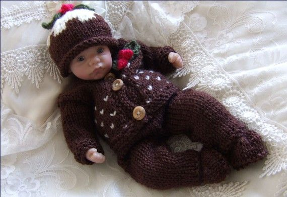 Dolls Knitting Pattern  Download PDF by PreciousNewbornKnits