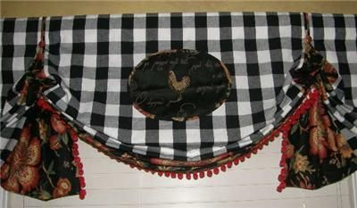 Buffalo Check Valances Window Valance French Country